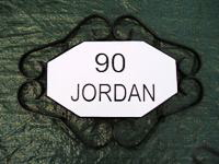 wrought iron nameplates, wrought iron house signs, engraved signs